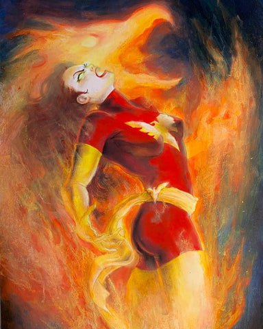 Casey Parsons Original Art Painting Dark Phoenix