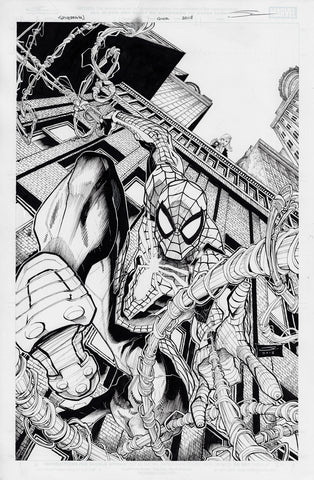 Gerardo Sandoval Original Art Spider-Man City at War #1 Cover