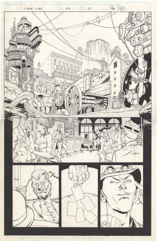 Paco Diaz Original Art X-Treme X-Men #4 P1