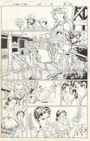 Paco Diaz Original Art X-Treme X-Men #4 P6