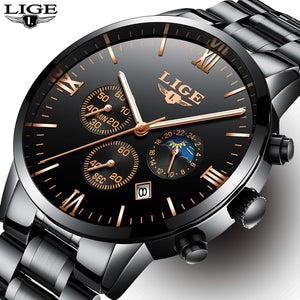 Latest Chronograph Waterproof Luxury Brand Watch for Men