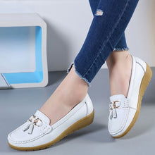 Load image into Gallery viewer, The Best 2019 Pure Leather Ballet Flats Cut Out Shoes for women