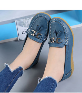 The Best 2019 Pure Leather Ballet Flats Cut Out Shoes for women