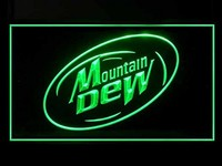 Mountain Dew Neon Sign (Bar. Drink. LED. Light)