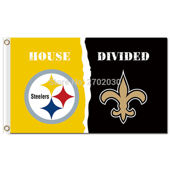 Pittsburgh Steelers Flag Vs New Orleans Saints World Series Football Team 3ft X 5ft  Steelers And New Orleans Saints Banner Flag