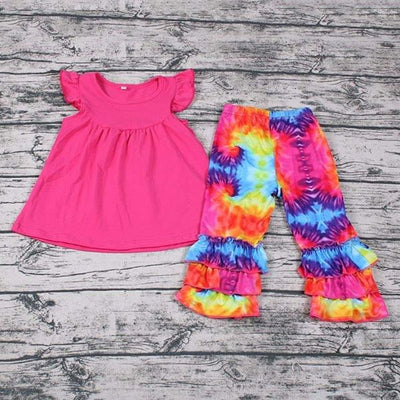 Girl's 2PC Tie Dye Capri Set