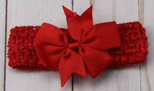 Girl's - Knitted Headband - Red