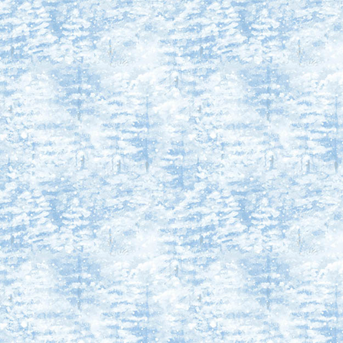 A Winter Song - Snowy Pines (Light Blue)