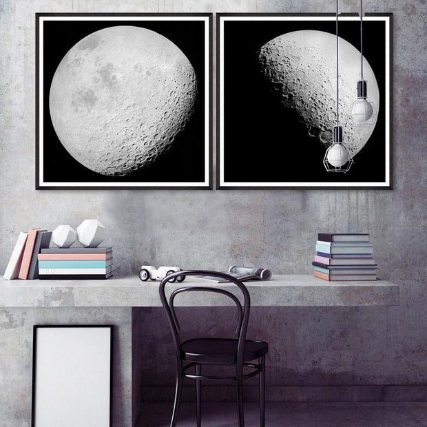 The Moon Framed Wall Art by MINDTHEGAP-MINDTHEGAP-Lime Lace