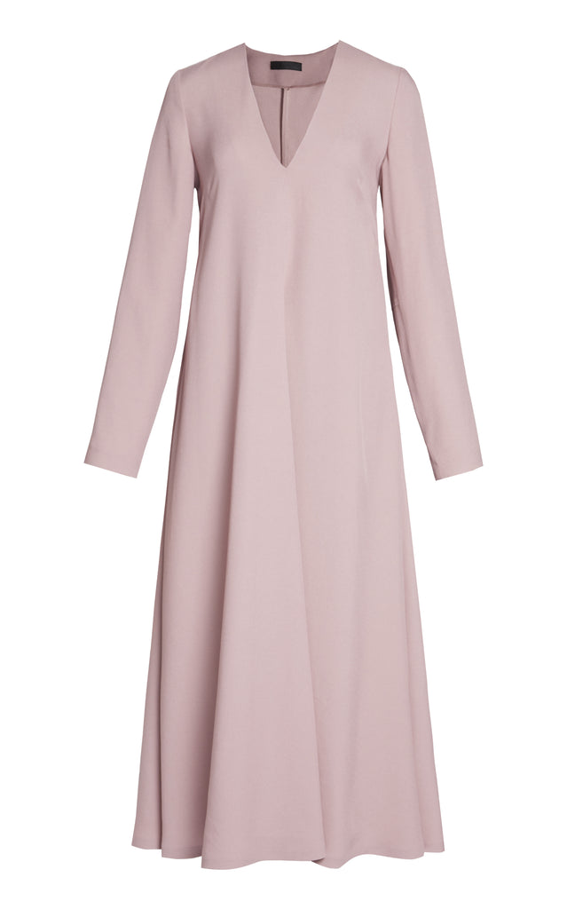 Long Sleeve Cady A-Line Dress