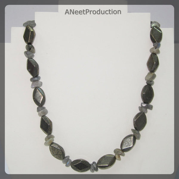 Pyrite and Labradorite Necklace
