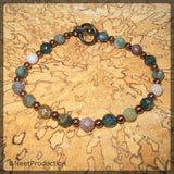 Faceted Agate and Hematite Bracelet