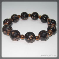Chunky Brown and Copper Bracelet