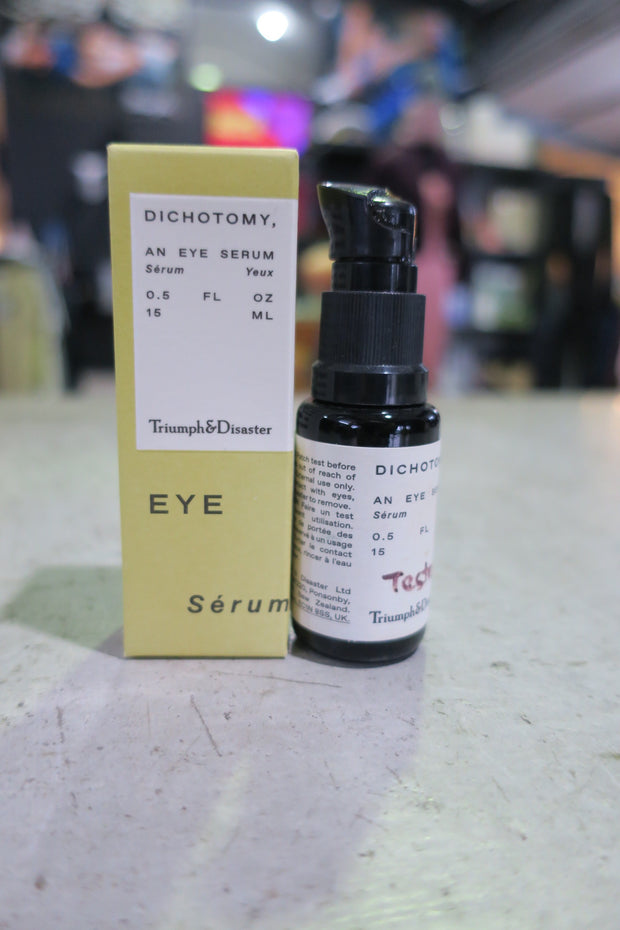 Triumph and Disaster - dichotomy eye serum