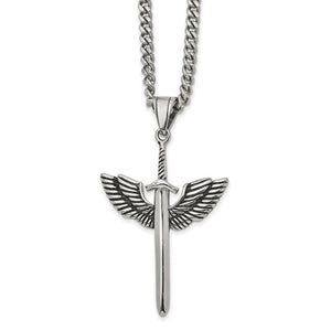 Sword With Wings Necklace