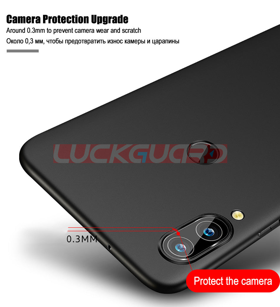 Ultra Thin Soft Phone Case Luxury Silicone Slim Shockproof Black Cover For Huawei P20 Pro P20 Lite