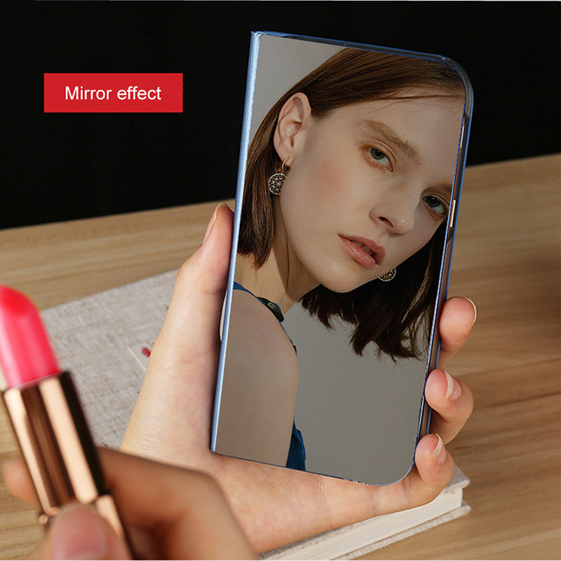 Clear View Smart Mirror Flip Stand Leather Phone Cover Case For iphone XR XS MAX X 8 7 Plus