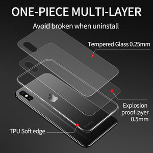Luxury Glass Ultra Thin Transparent Case For iPhone