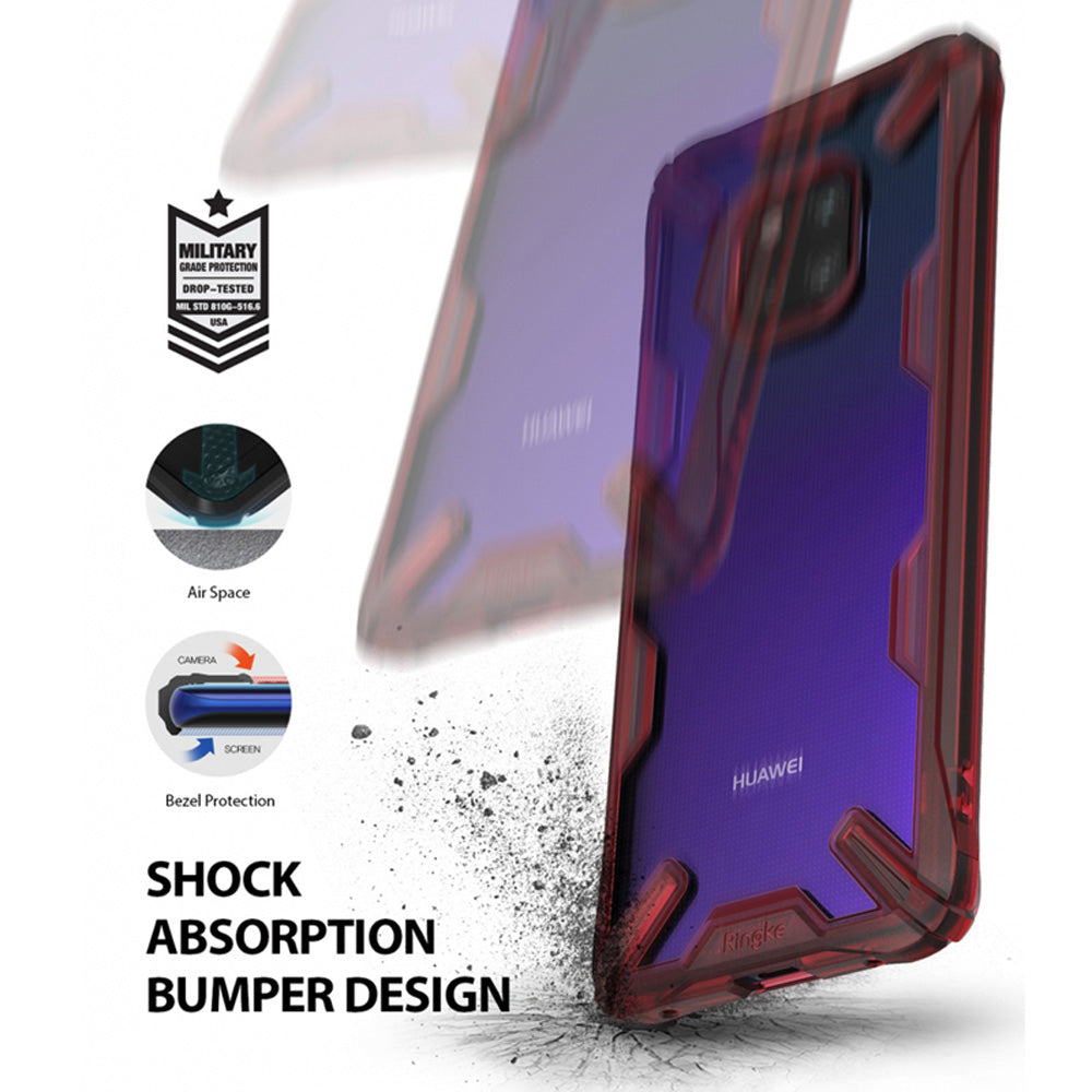 Dual Layer Heavy Duty Drop Protection PC Clear Back Cover and Soft TPU Frame Hybrid Cover for Huawei Mate 20/Pro Case