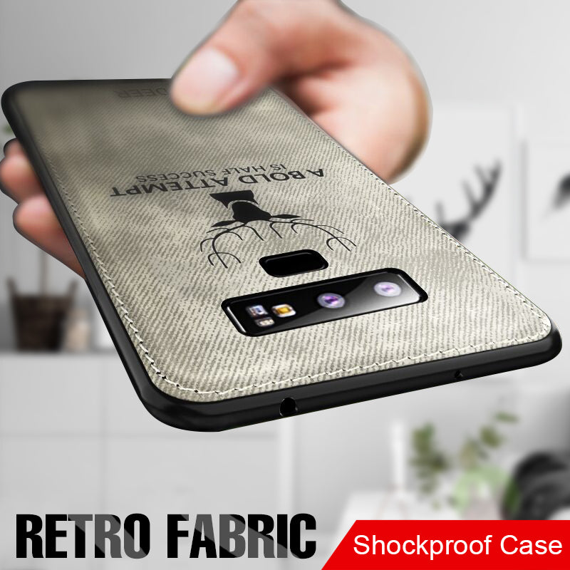 Soft Cloth Back Full Phone Shockproof Case Cover For Samsung S9 S8 Plus S7 Edge Note 9