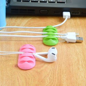 Soft Silicone Magnetic Wire Cable Organizer