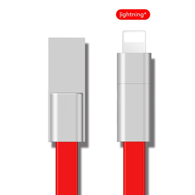 Reused USB Cable For iPhone/Micro USB/Type C Fast Charger Data