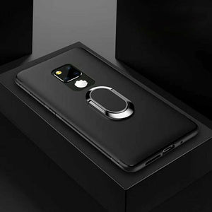 Matte Soft Finger Ring Bracket Stand Car Holder Cover for Huawei Mate20 Pro Mate 20 Lite Capa