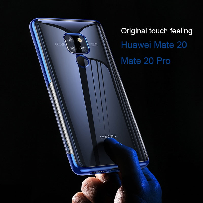 Transparent Plating Bumper Case for Huawei Mate 20 / pro