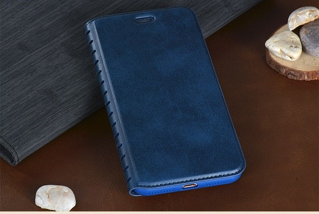 Leather Wallet Luxury PU Card Slot Flip Case Cover For Samsung S8 S8 Plus Case