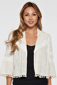 Vanilla Cropped Jacket