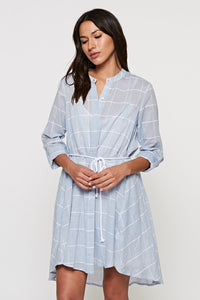 Button Down Blue Shirt Dress