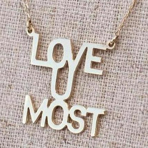 "Love You ""Most"" - Gold"