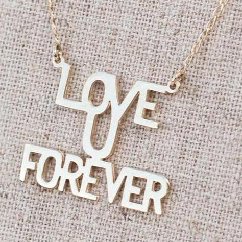 "Love You ""Forever"" - Gold"