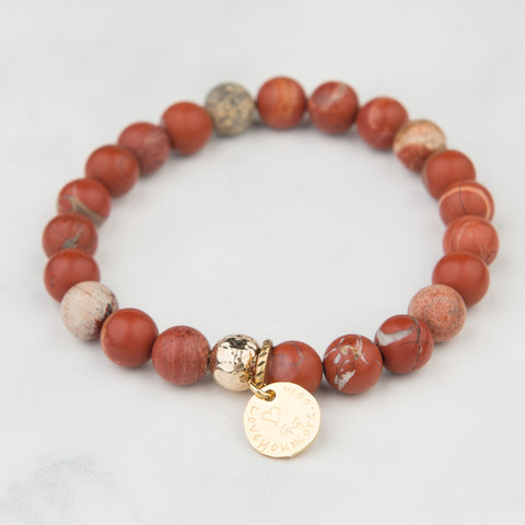 Terra Cotta Stackable Bracelet (8mm Beads)