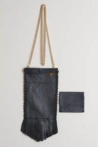 Crossbody Coachella Leather Bag - Black