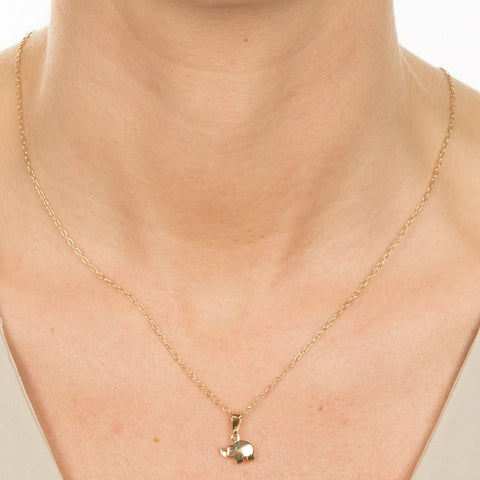 Dainty Elephant Necklace