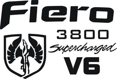 Pontiac Fiero V6 3800 Supercharged Decal