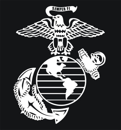 US Marines Eagle Globe Anchor EGA Window Decal