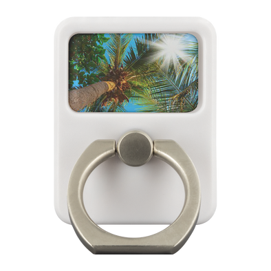 Under The Palm Trees Metal Cell Phone & Tablet Ring Grip EDC Multi-Tool With Hook