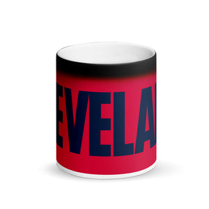 Cleveland TribeTime Matte Black Magic Mug