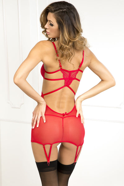 Strings Attached Chemise - Red - Tiaz Boutique