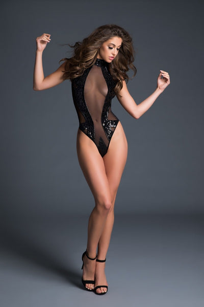 Enchanting Sequin Diva Bodysuit - Tiaz Boutique