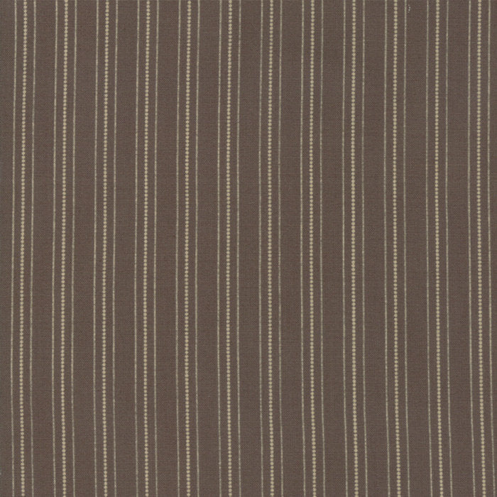 101 Maple Street by Bunny Hill Designs | Brown Country Stripes Fabric