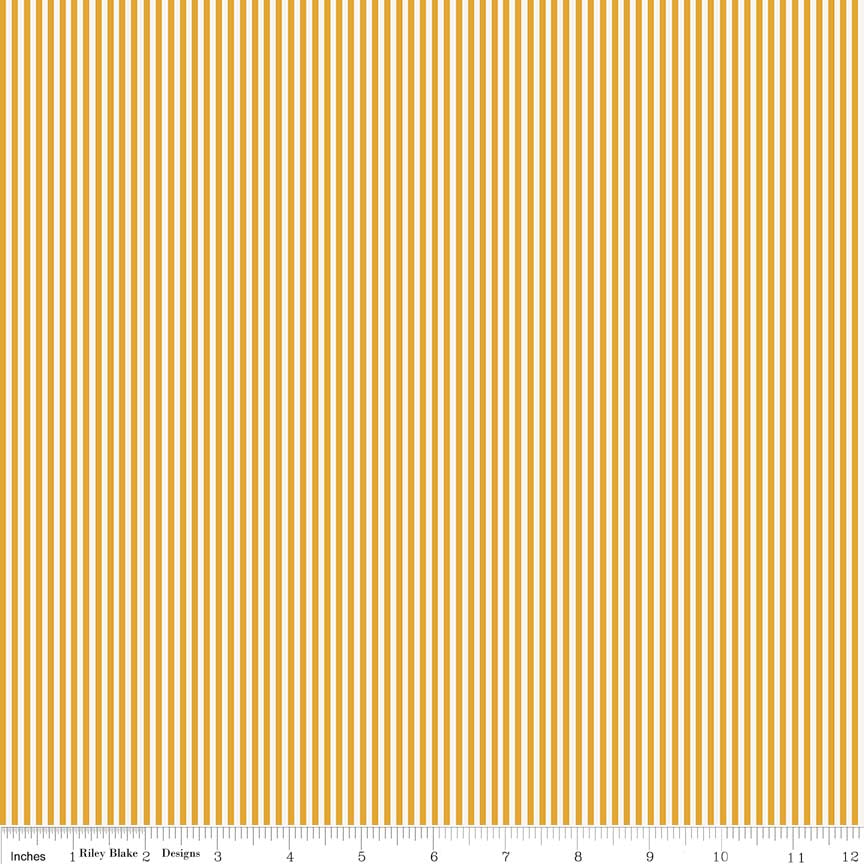 Lancelot by Citrus & Mint | Mustard Stripe Fabric