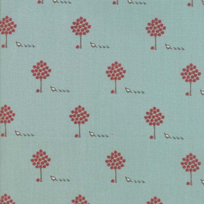 101 Maple Street by Bunny Hill Designs | Aqua Maple Trees Fabric