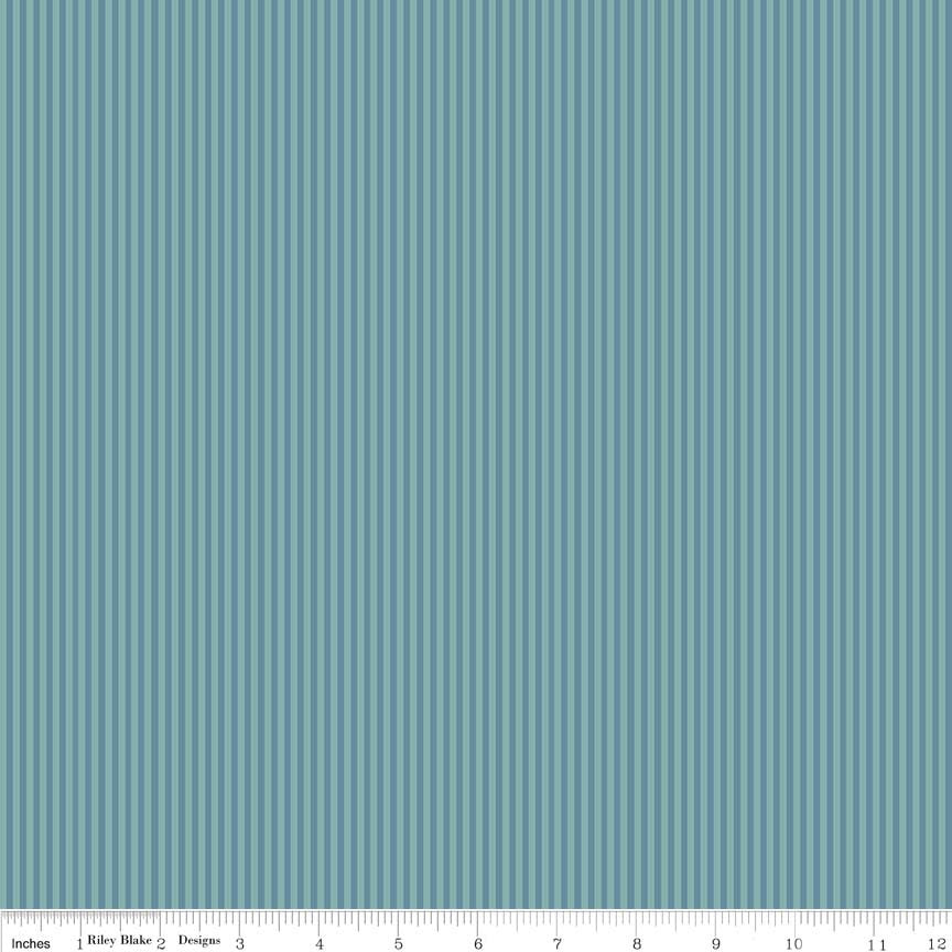 Lancelot by Citrus & Mint | Teal Stripe Fabric