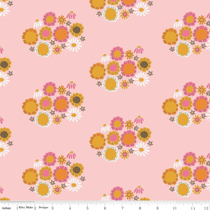 Guinevere by Citrus & Mint | Pink Flower Fabric