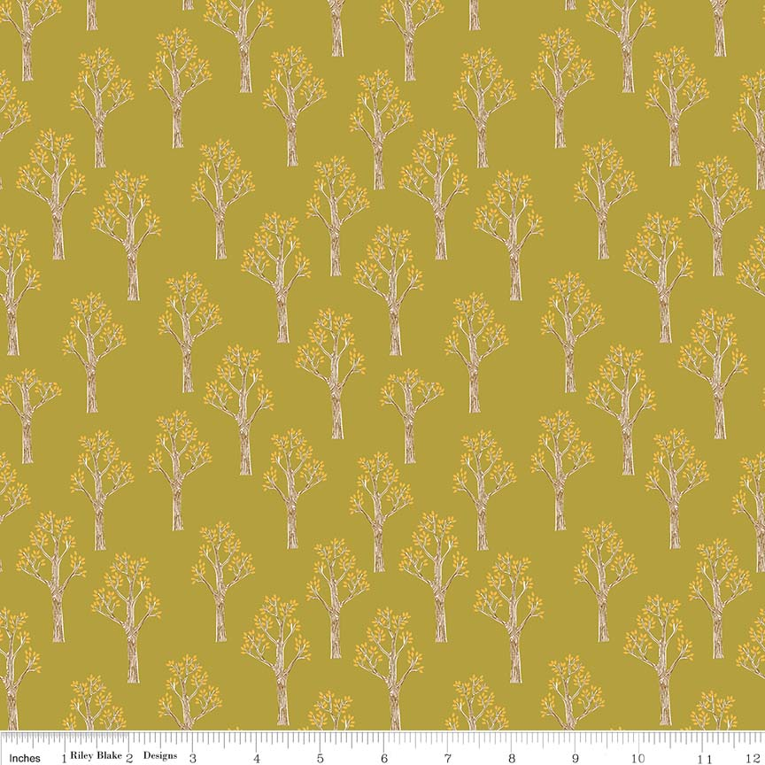 Lancelot by Citrus & Mint | Green Trees Fabric
