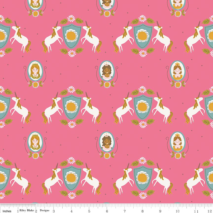 Guinevere by Citrus & Mint | Hot Pink Main Fabric