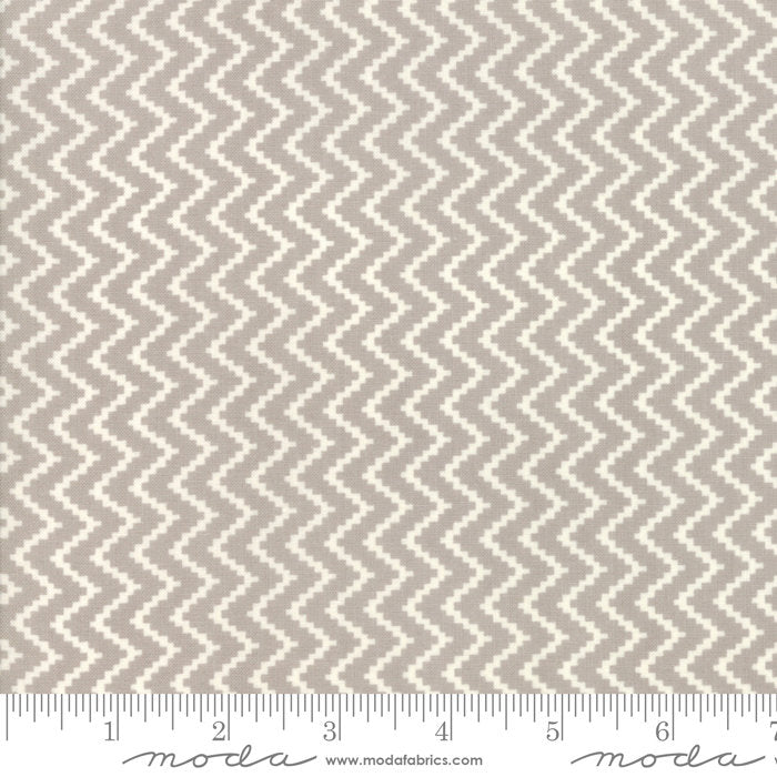 All Hallow's Eve by Fig Tree & Co | Gray Zigzag Fabric